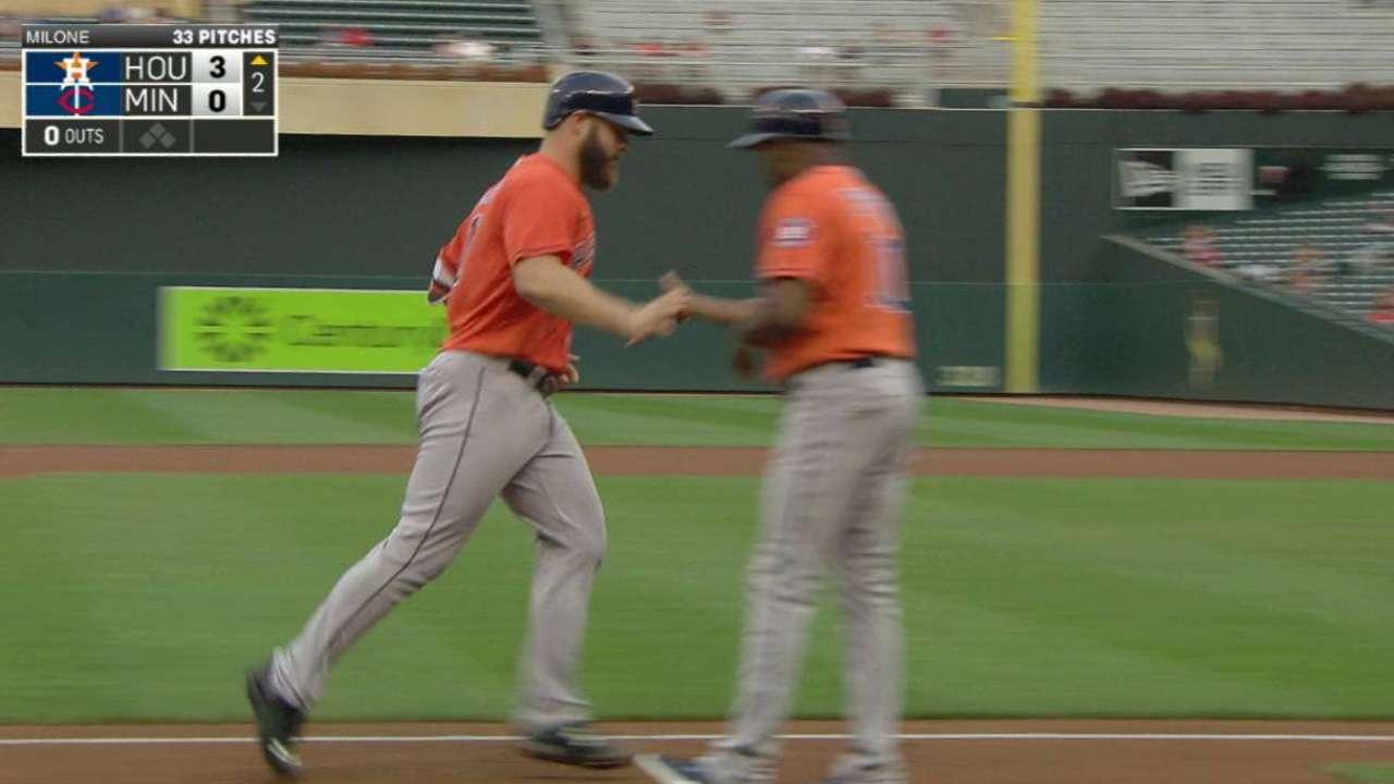 Gattis' three-run home run