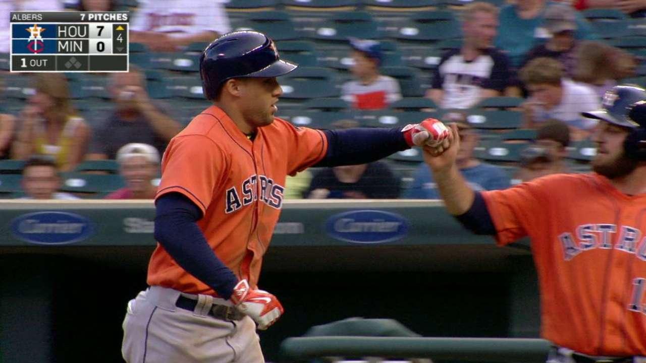 Springer's two-run laser homer