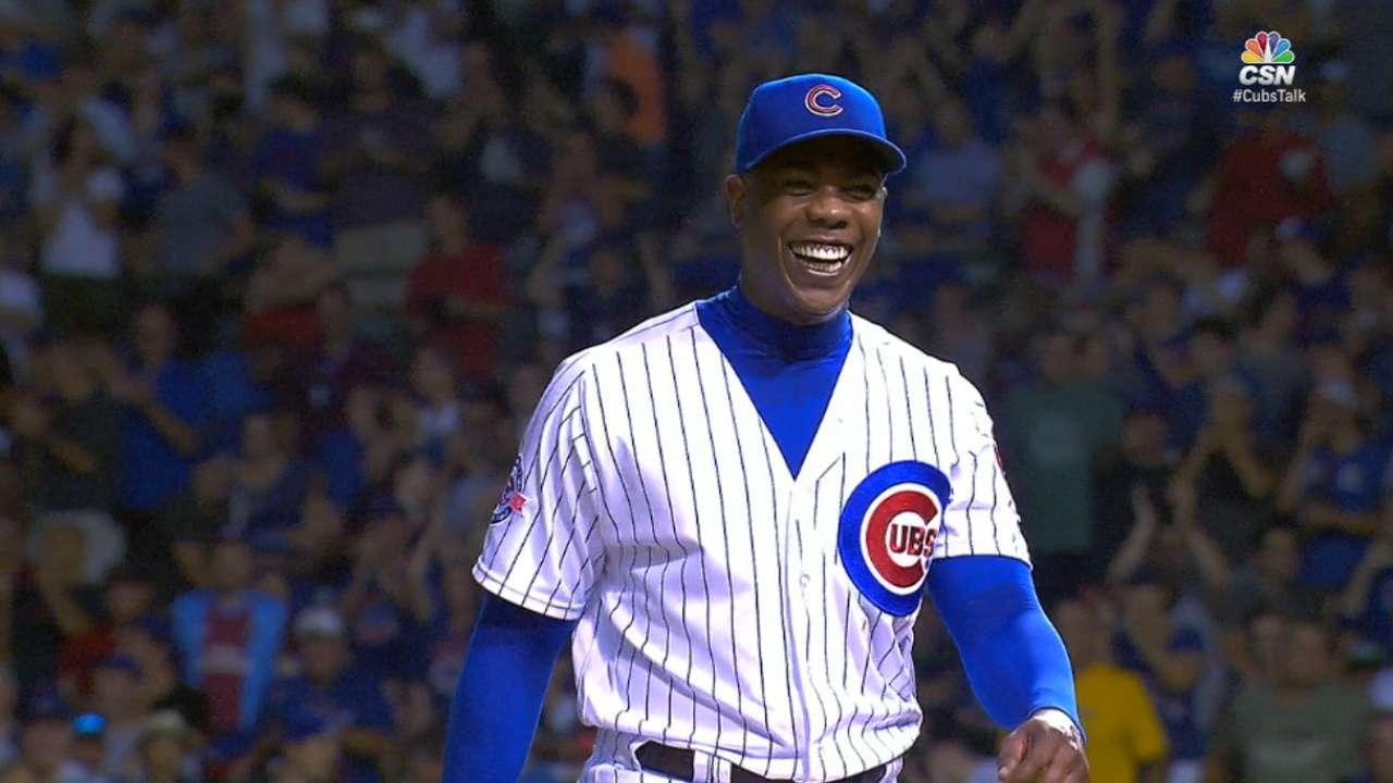 Chapman's three-pitch inning