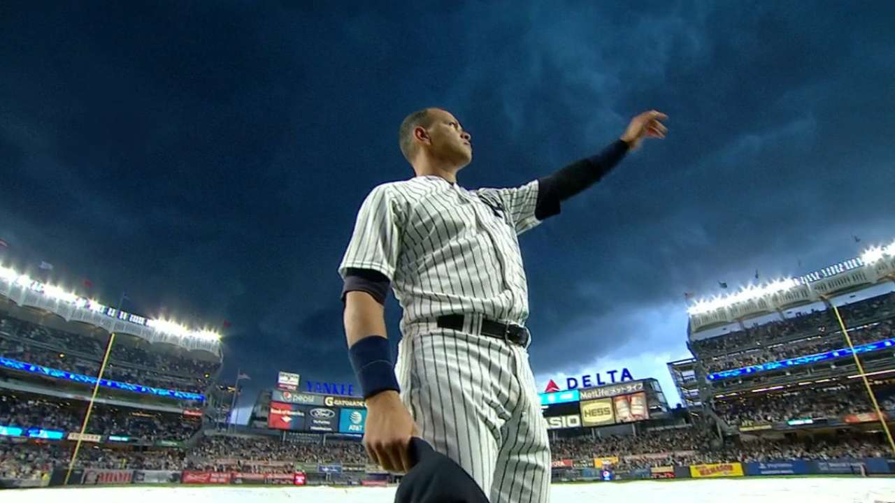 Yankees honor A-Rod