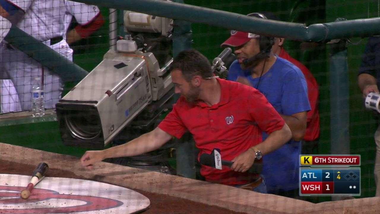 Peterson loses his bat