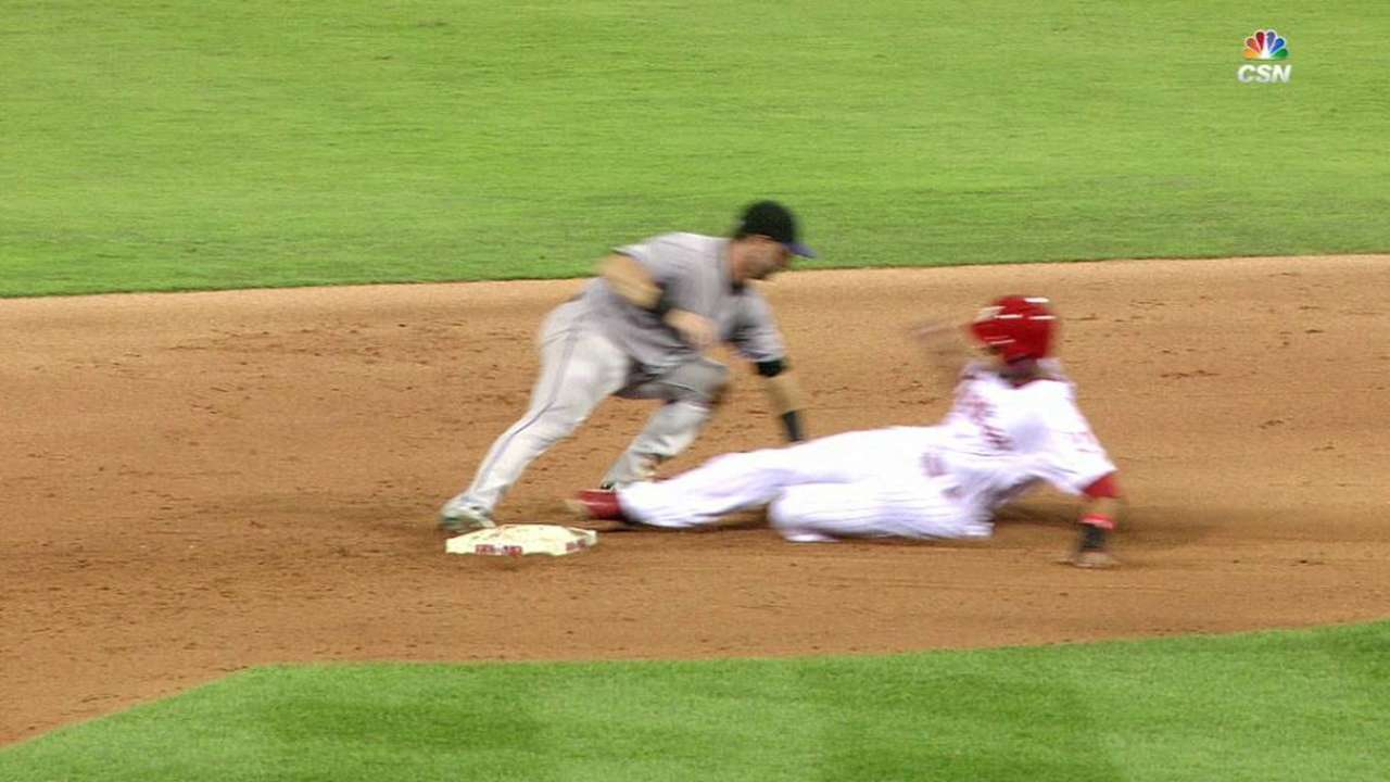 Altherr safe at second