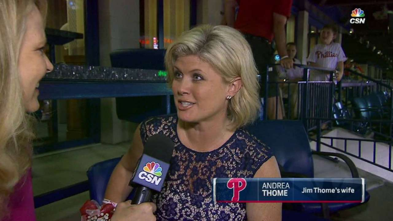 Thome's wife on special night