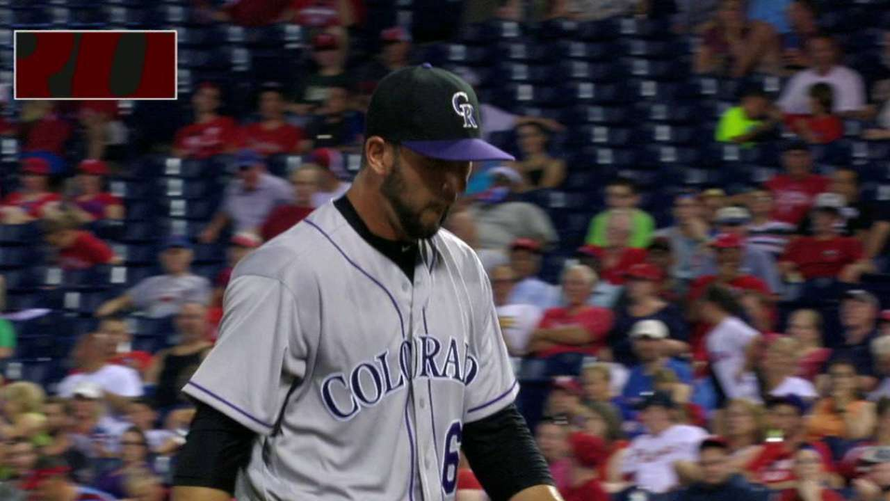 Carasiti joins Rockies for series in Philly