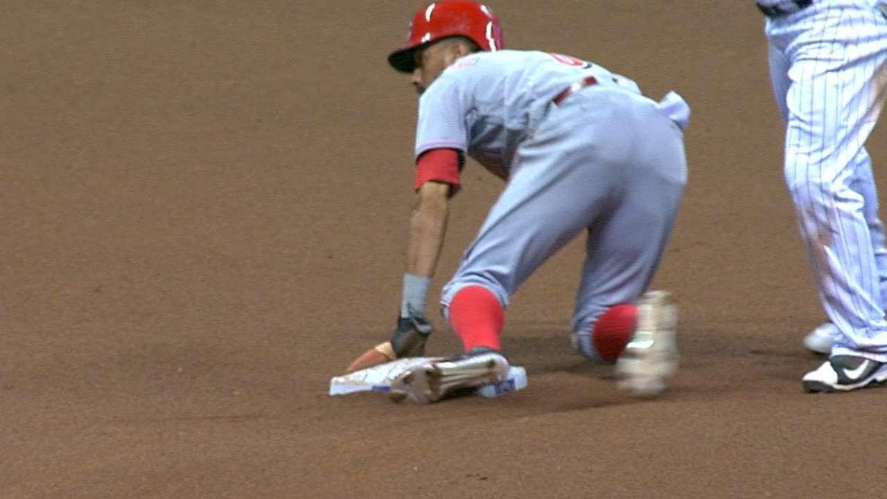 Hamilton steals three bases