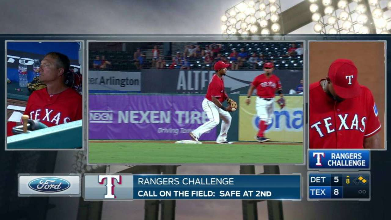 Rangers challenge call at second