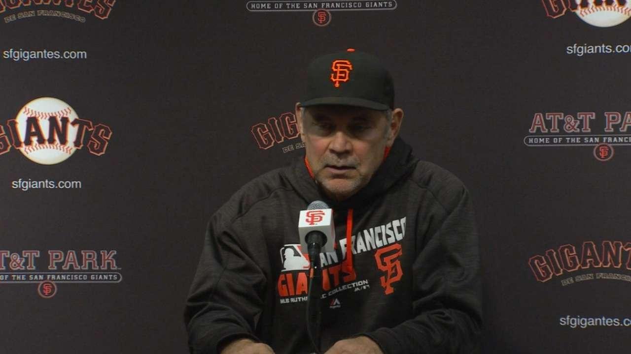Bochy on Giants' loss