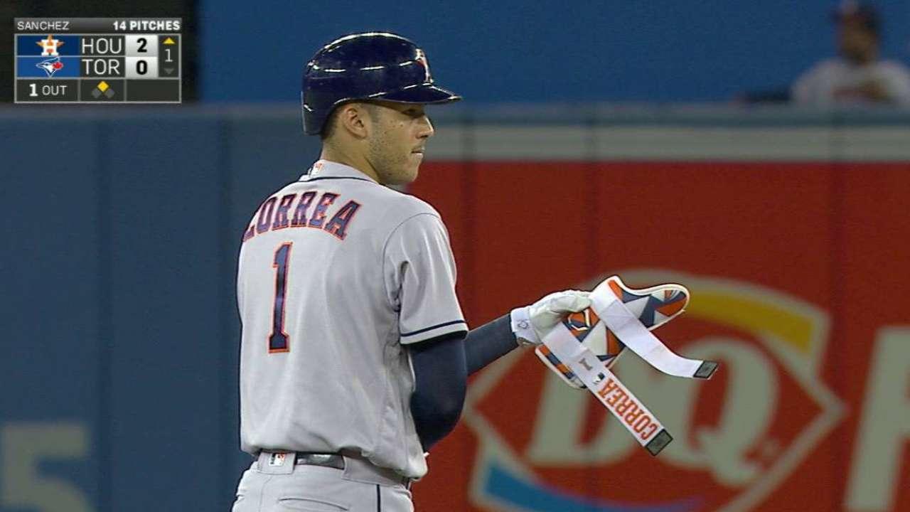 Astros bitten by big HRs after first-inning burst