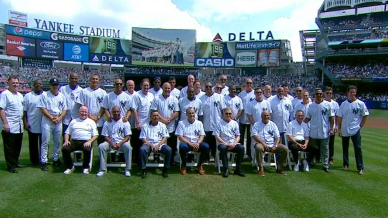 Birth of a Dynasty: Yankees honor 1996 World Series champs