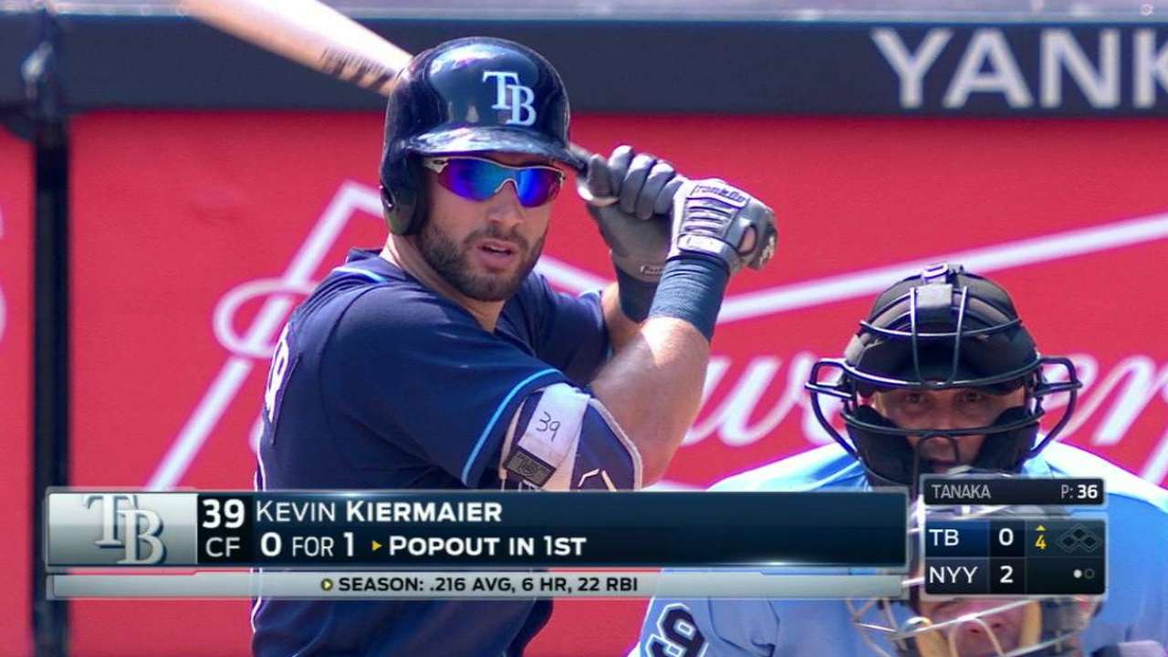 Kiermaier gets Rays' first hit