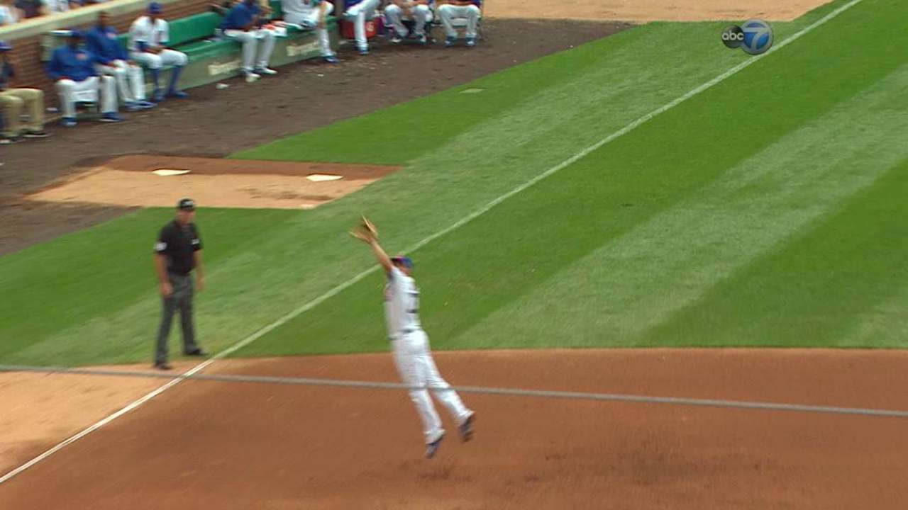 Bryant snags a liner