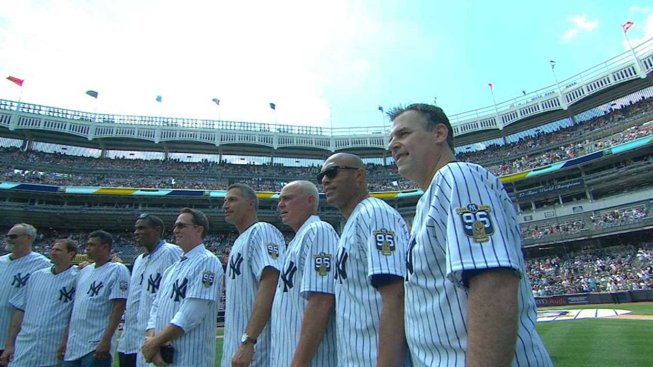 Yankees honor '96 WS champs
