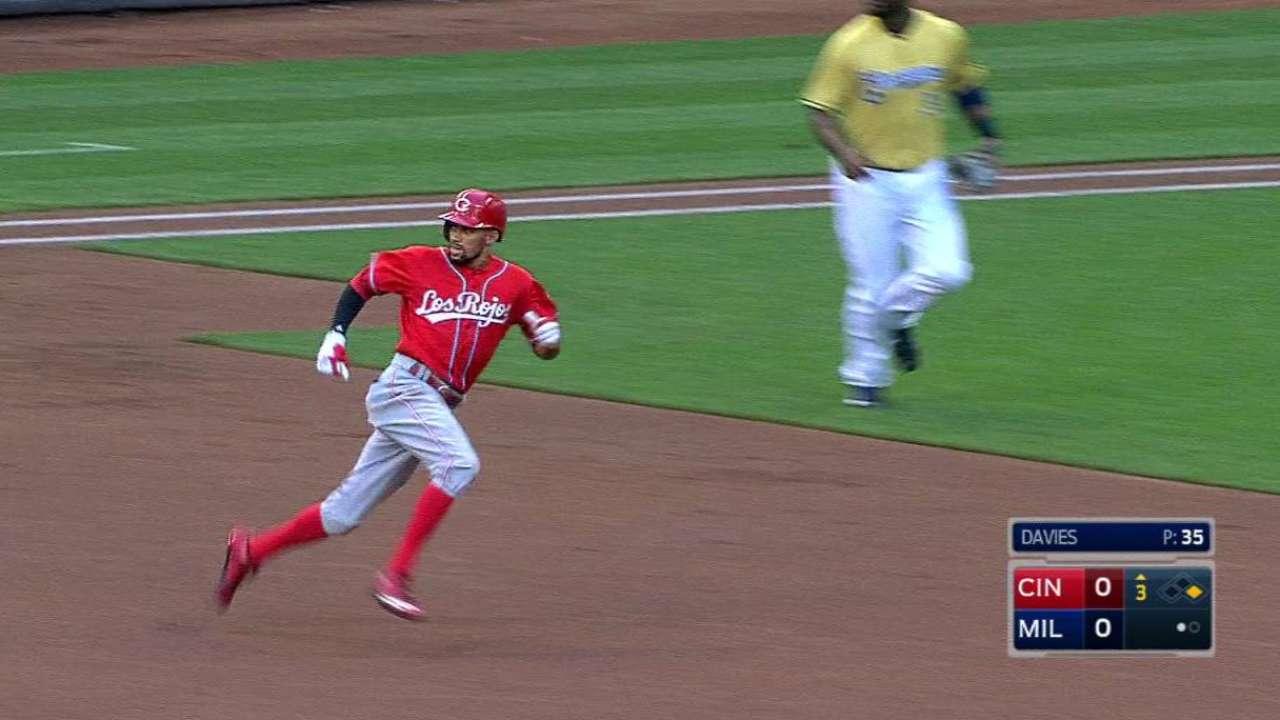 Hamilton's 3rd-inning triple