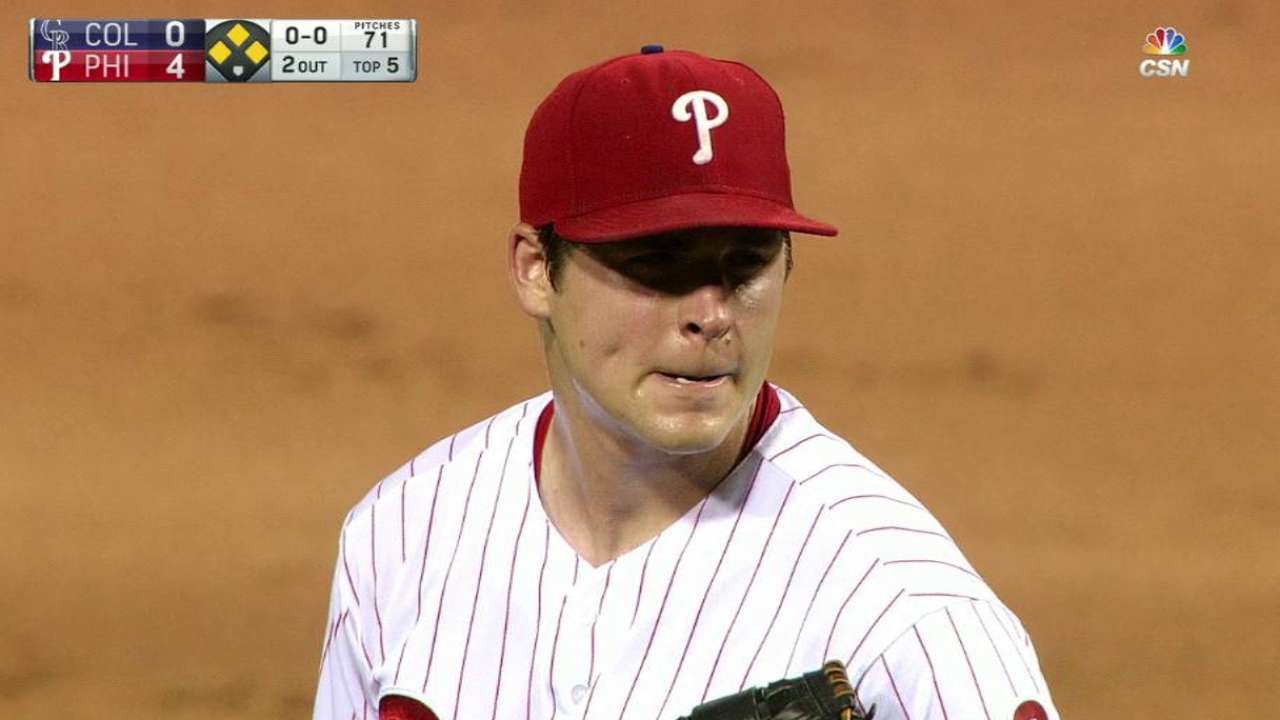 Eickhoff's 6th-inning struggles continue