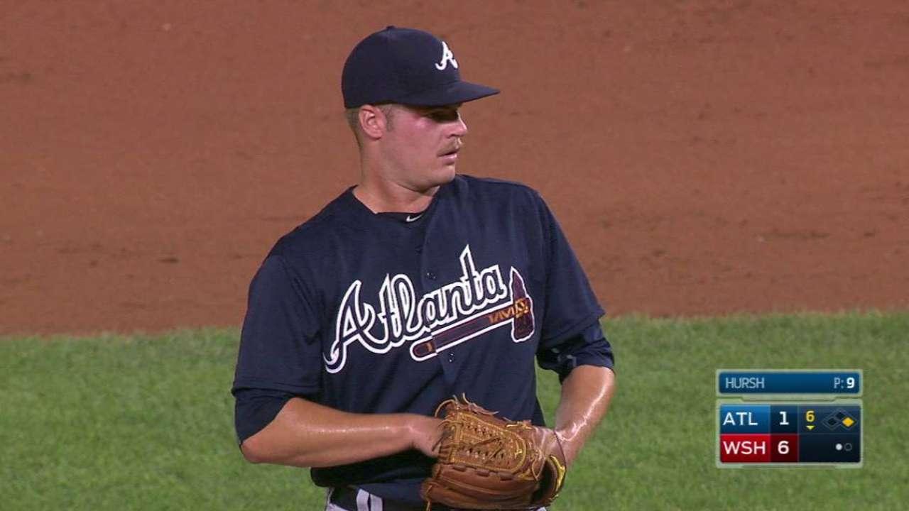 Hursh's first career strikeout