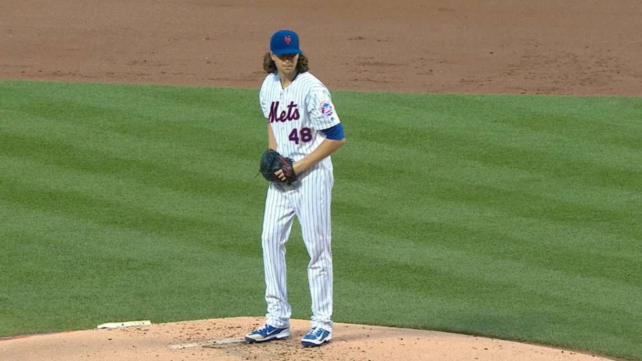 deGrom fans nine, allows one run