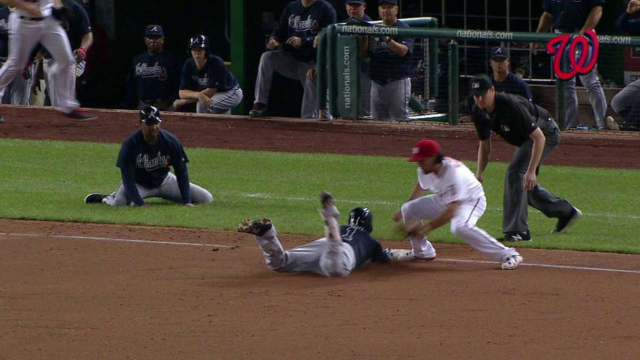 Aybar stands by aggressive decision in 9th inning