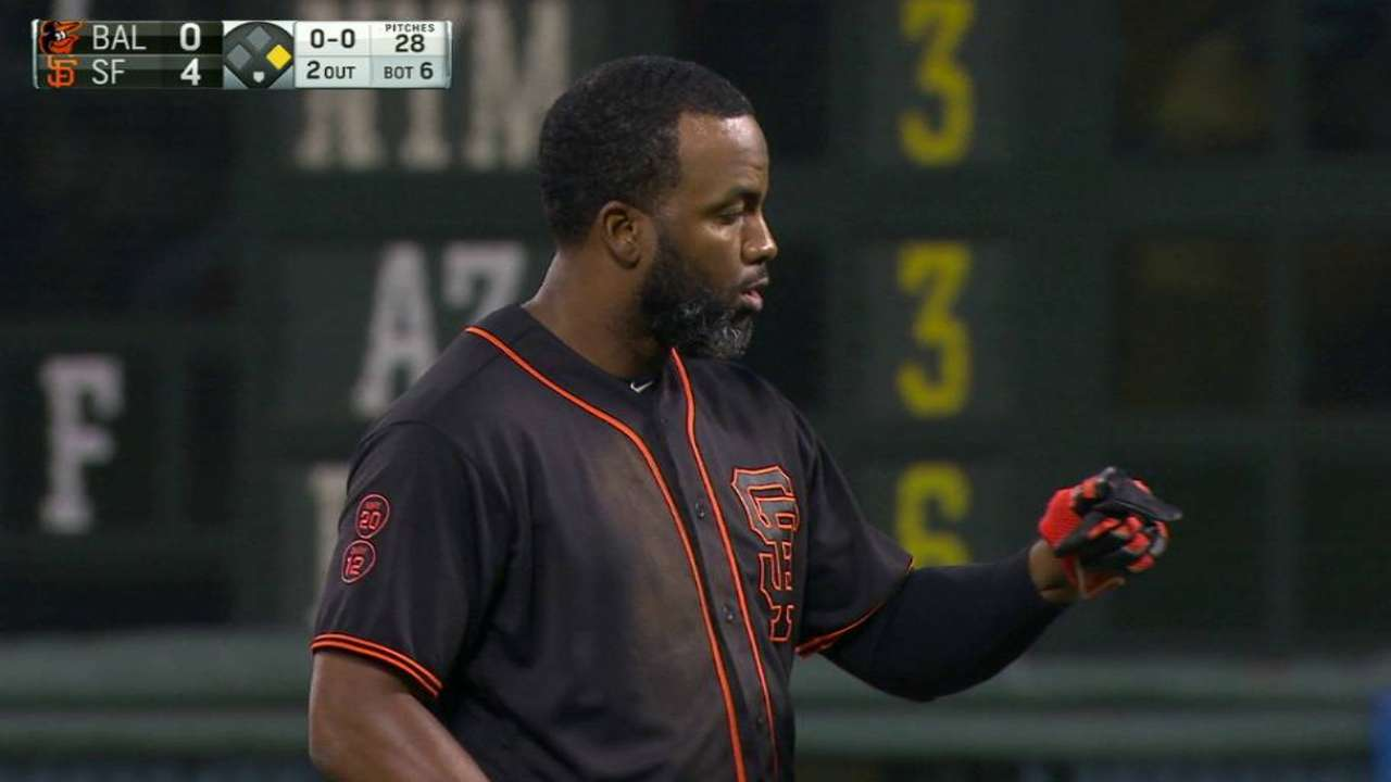 Span's four RBIs plenty for Bumgarner in win