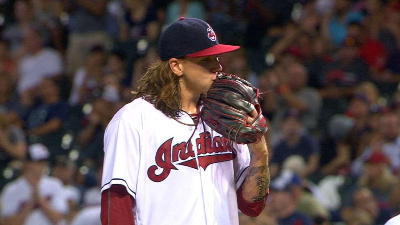 Clevinger named Tribe's fifth starter for now