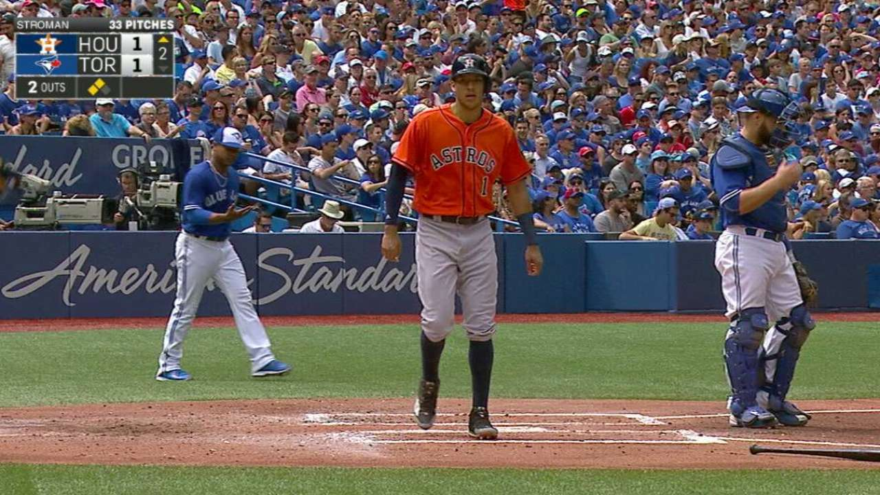 Correa scores on throwing error