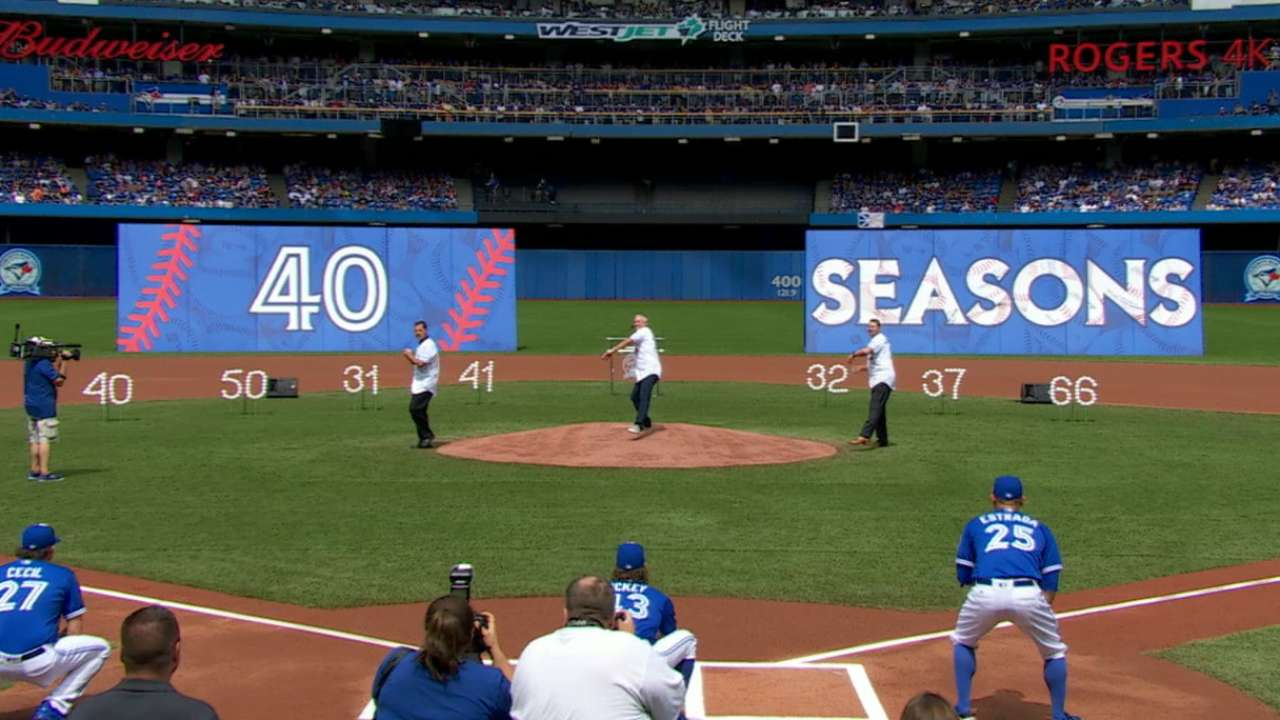 Blue Jays honor top arms in club history