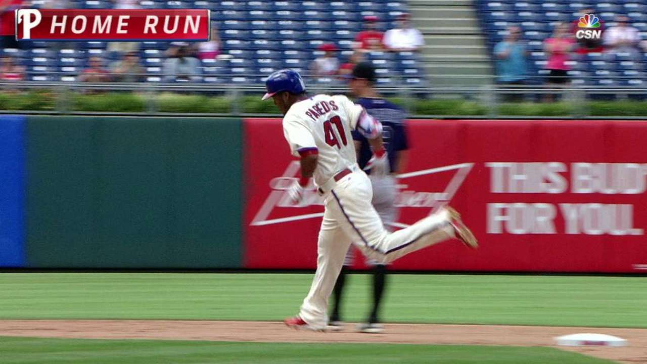 Paredes powers Phillies to sweep of Rockies