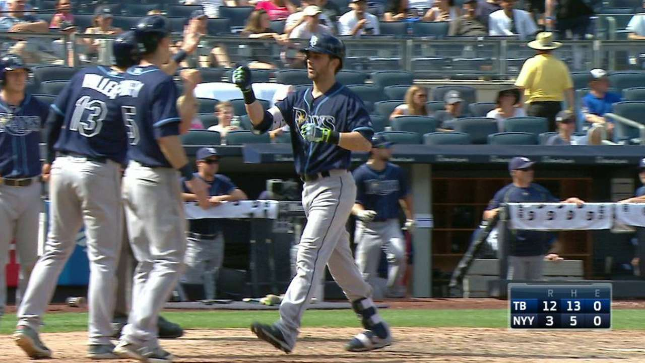 Relentless Rays ride bats to rout of Yanks