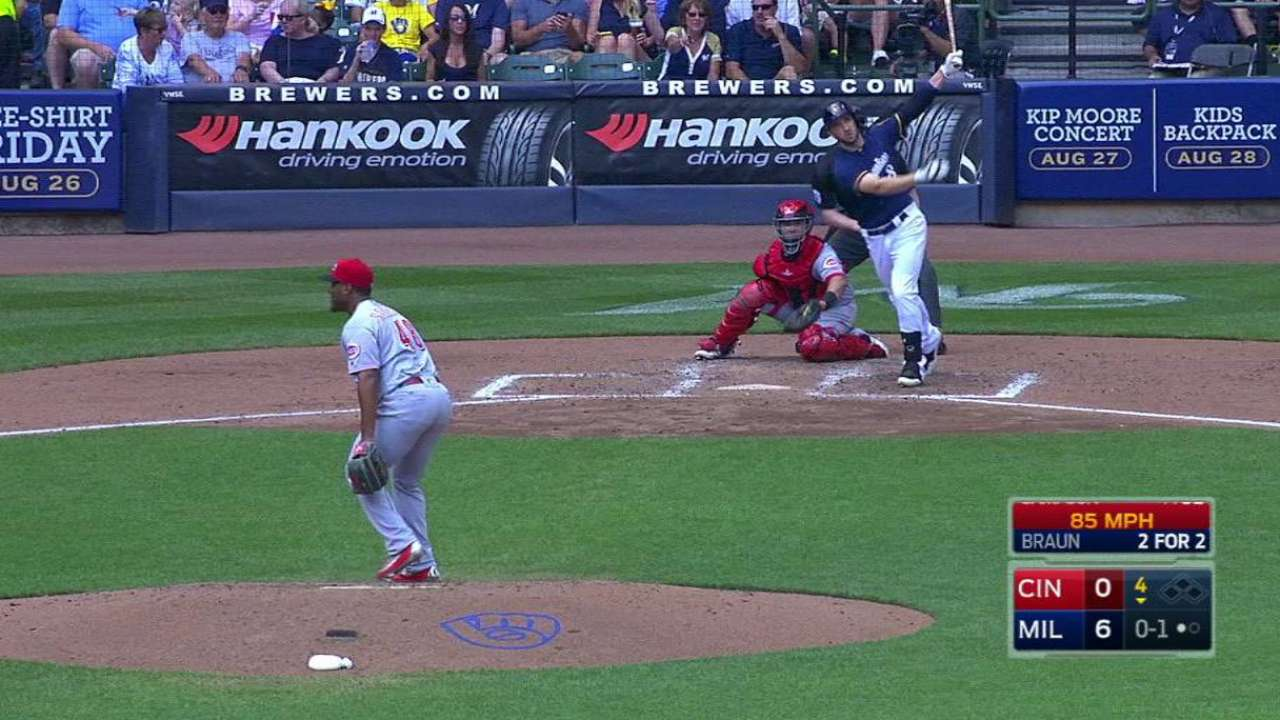 Braun's second home run