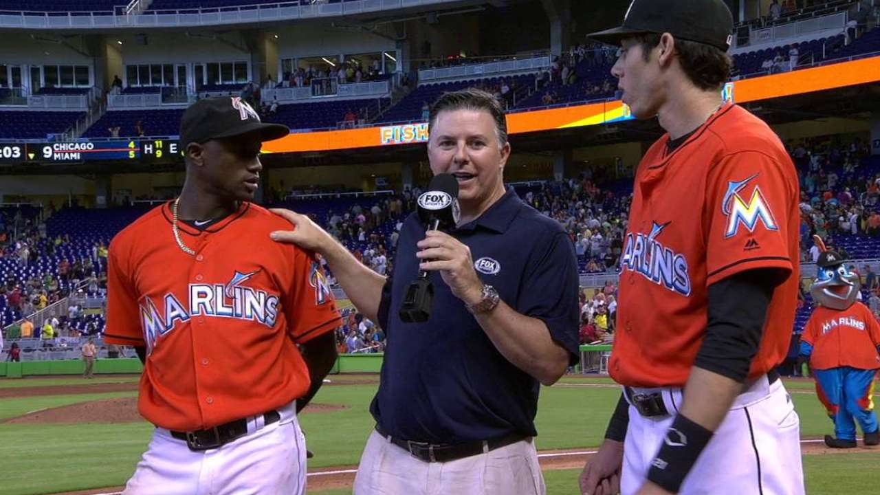 Yelich's throw seals win on tough day for Marlins