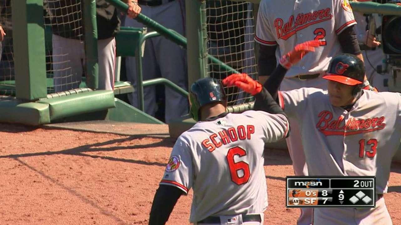 Schoop's go-ahead home run