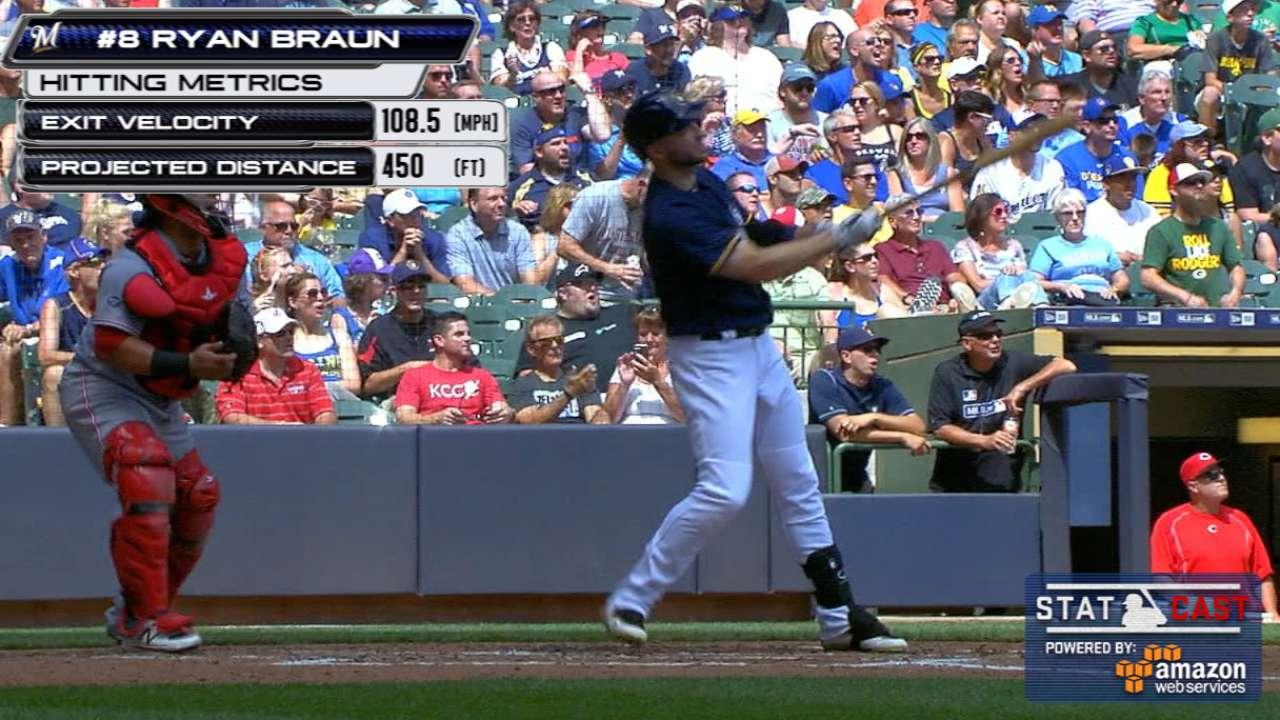 Statcast: Braun's 450-foot homer