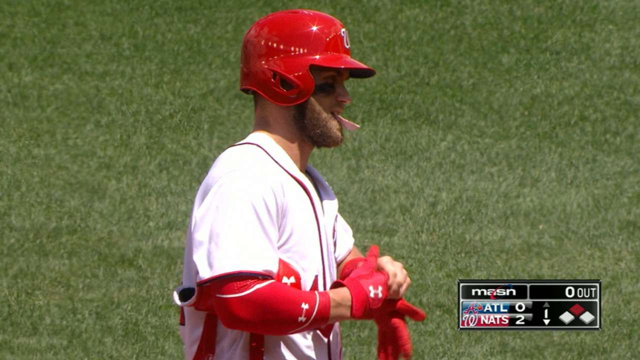 Harper gets involved early in return to lineup