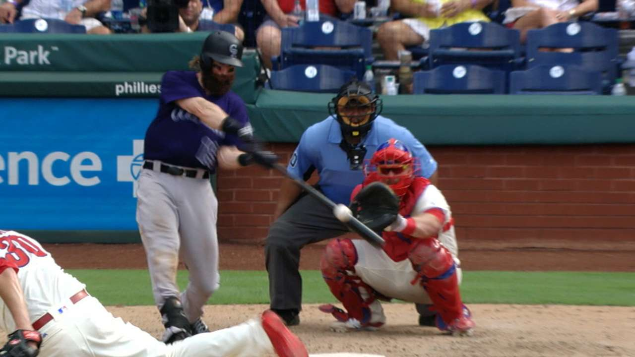 Blackmon sets club record with 5-HR series