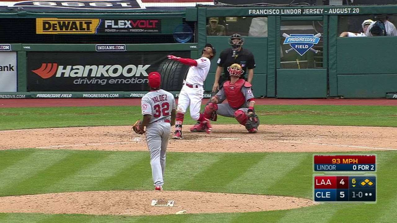 Soto hit by backswing, exits