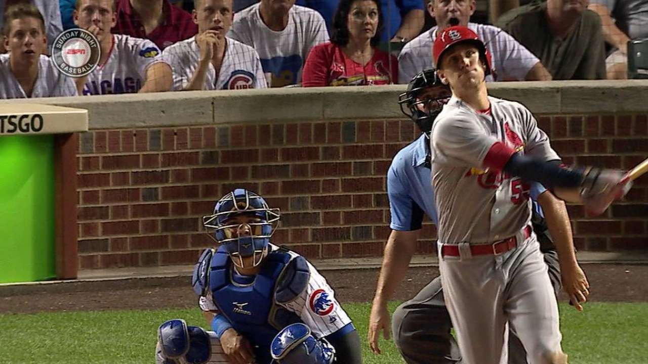 Cards wait out Lackey, stun Cubs with big 8th