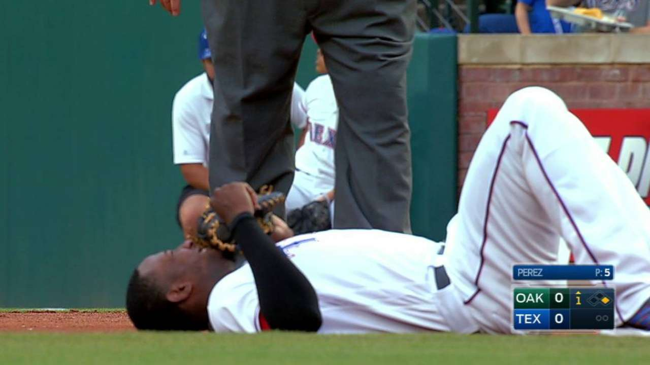 Profar shaken up after collision