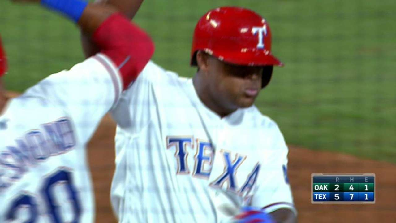 Beltre's 10th career slam lifts Texas over A's