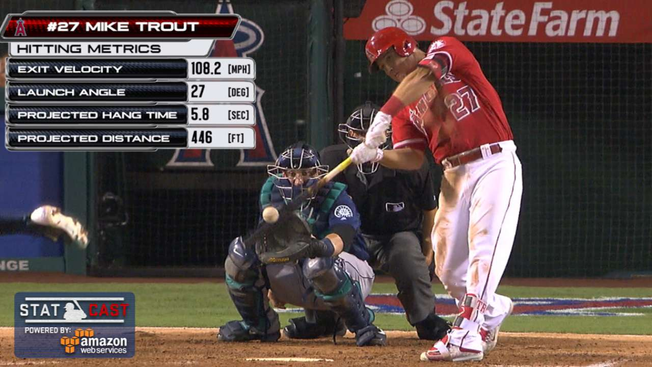 Statcast: Trout homers off King