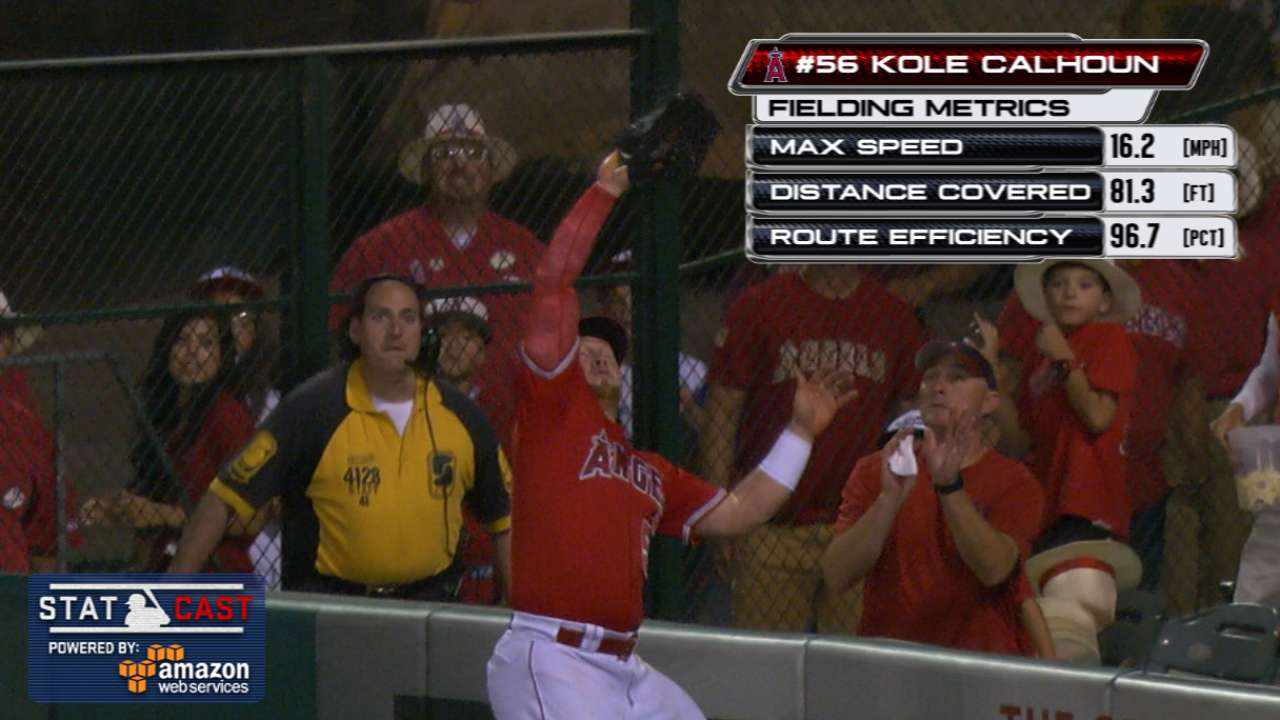 Statcast: Calhoun robs home run
