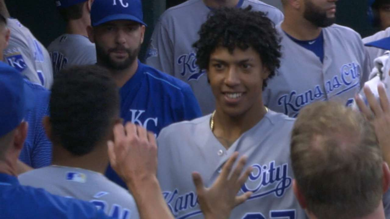 Mondesi flashes power with 1st MLB home run