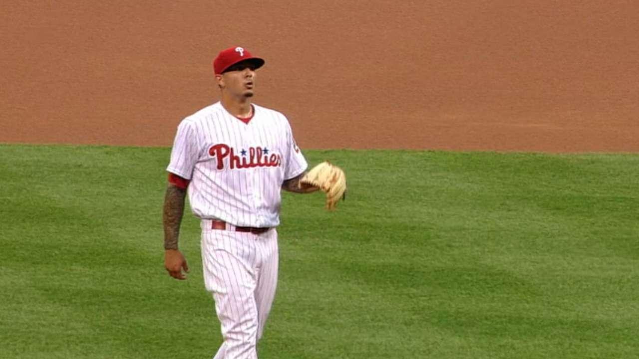Velasquez strikes out 10 Dodgers