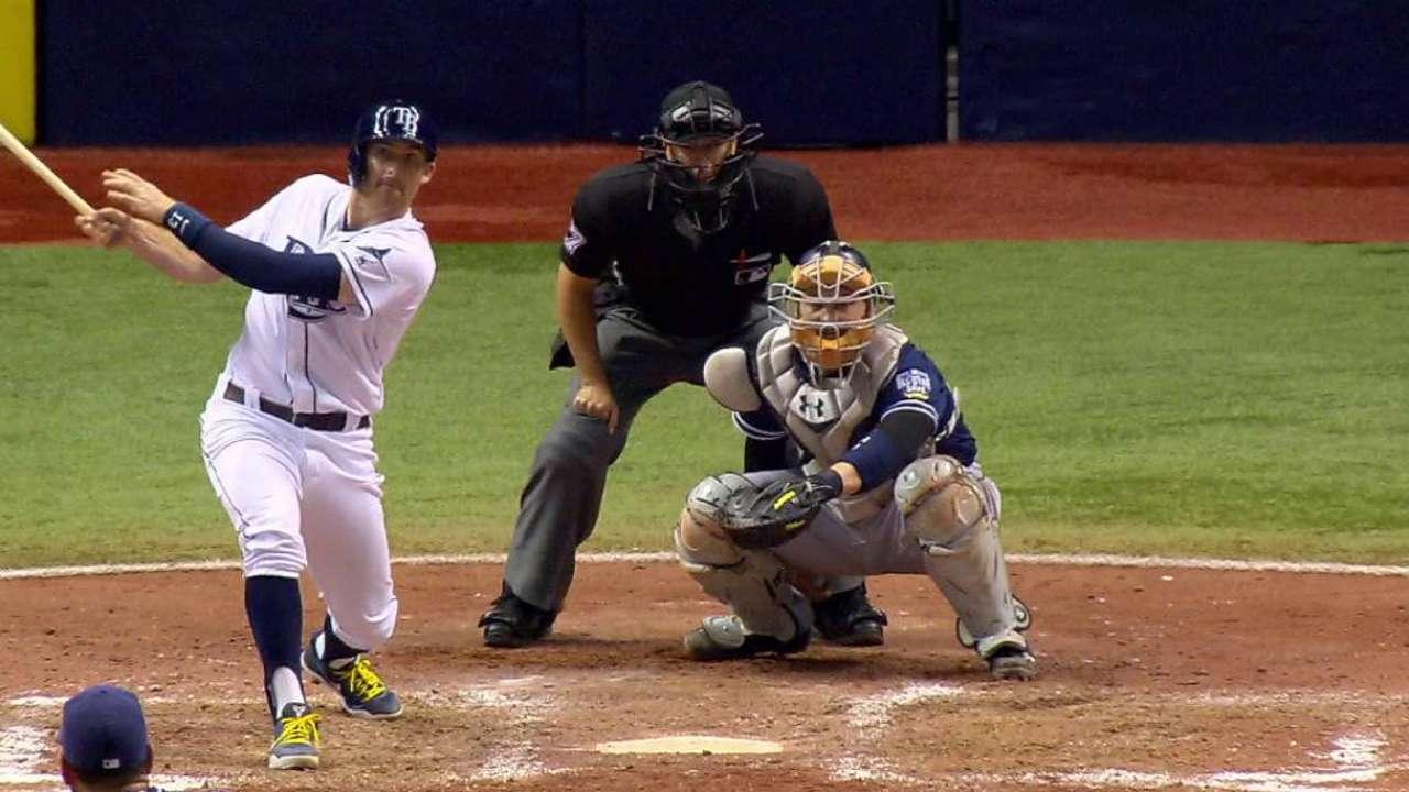 Rays aplastan a Padres con cinco cuadrangulares