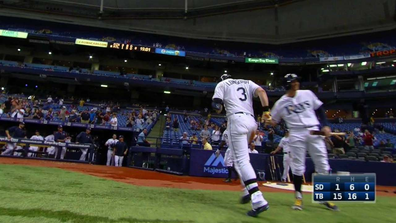 Rays set team record for runs scored over 3-game stretch
