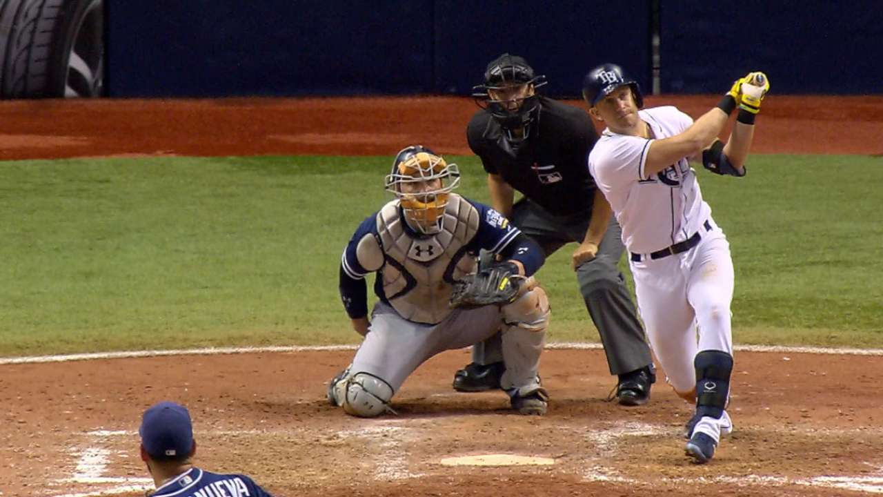 Rays smack five home runs