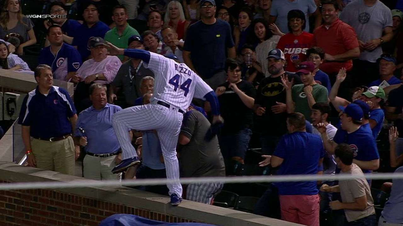 Rizzo on great catch
