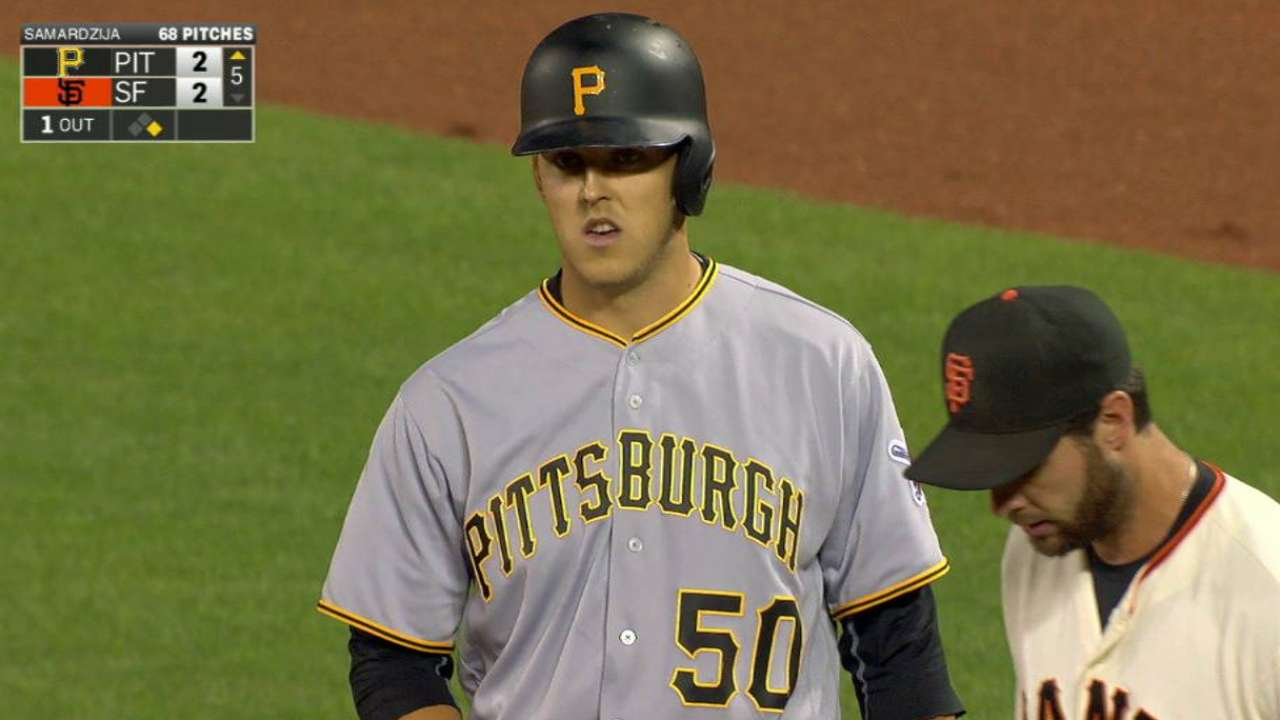 Taillon's first MLB hit