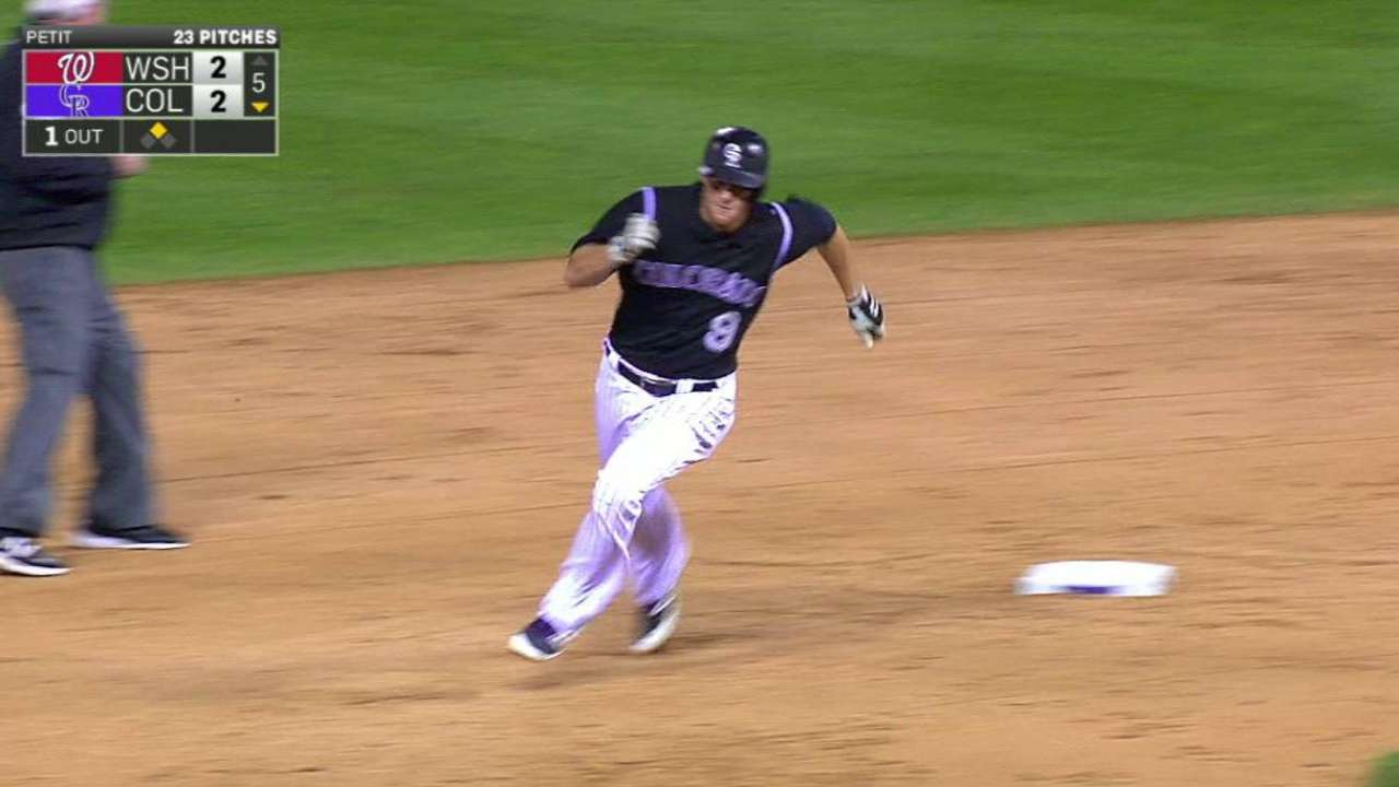 LeMahieu legs out a triple