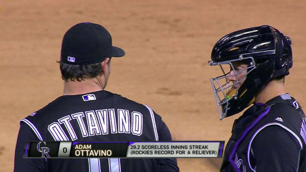 Ottavino sets Rockies' record