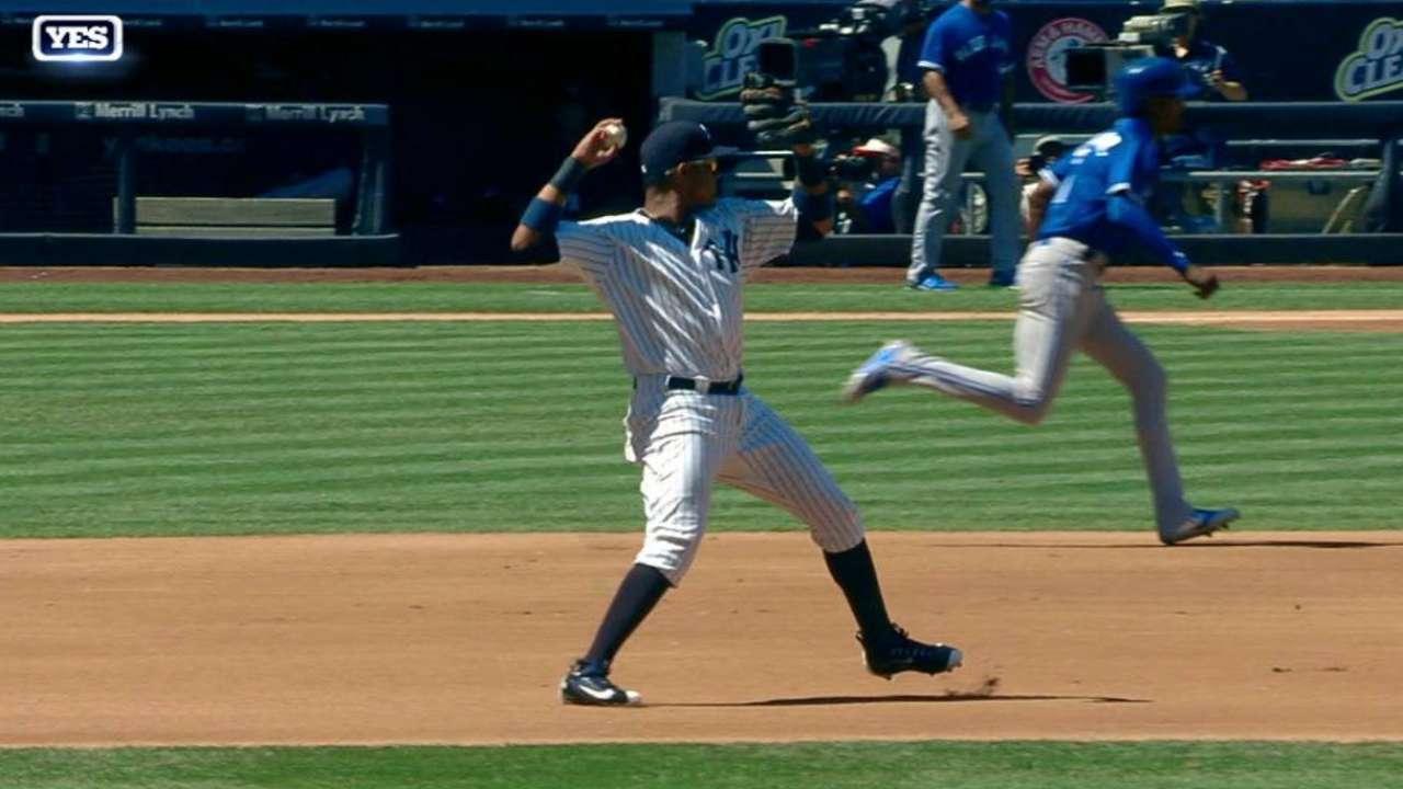 Castro's smart defensive play