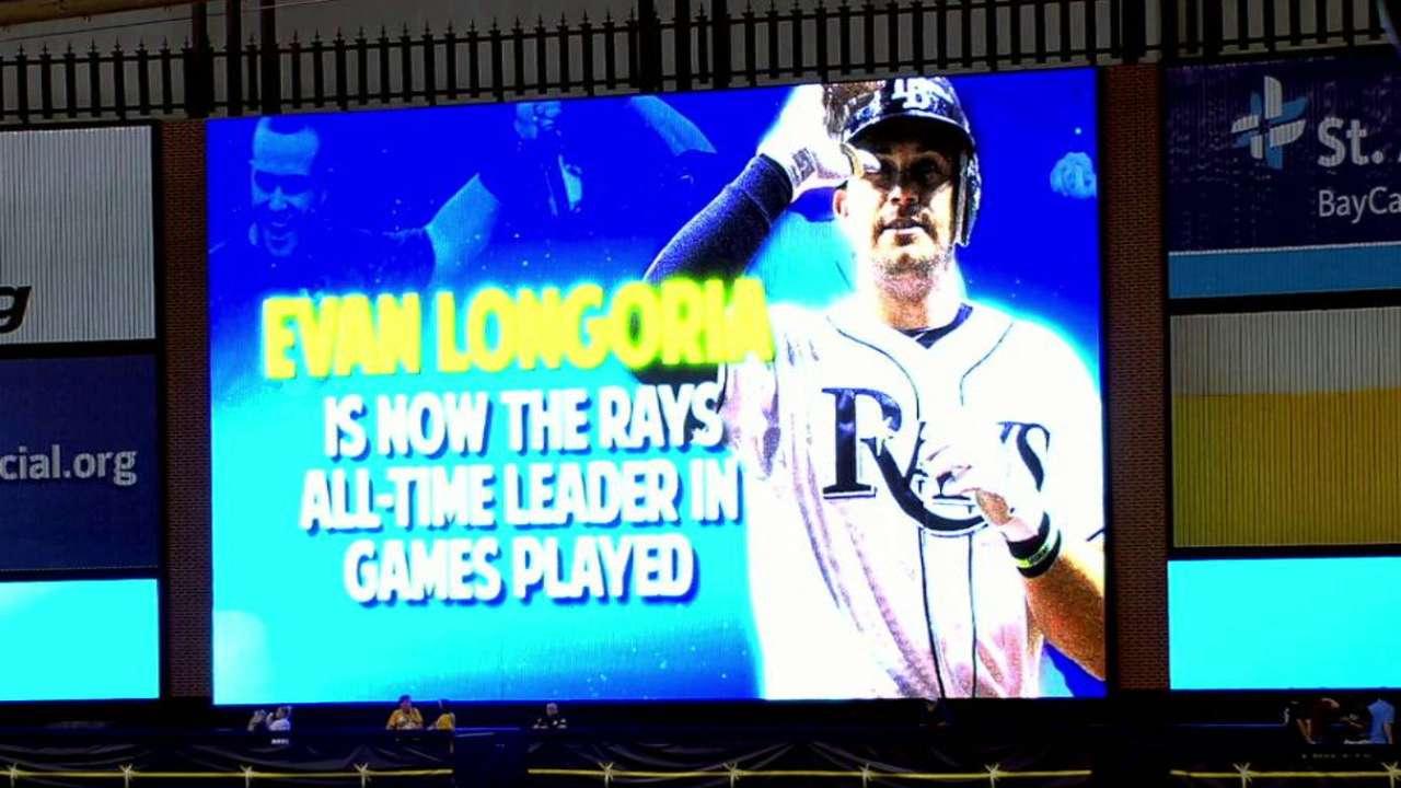 Longoria sets Rays record